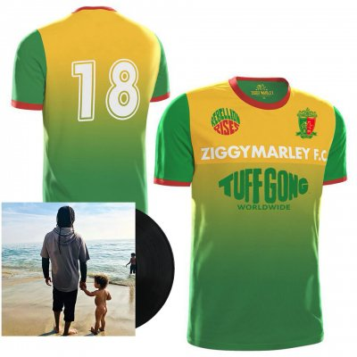ziggy-marley - Rebellion Rises LP + 2018 Tuff Gong Jersey Bundle