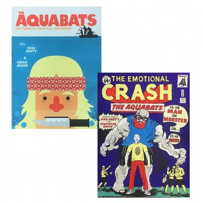 the-aquabats - Screen-Printed Poster Bundle
