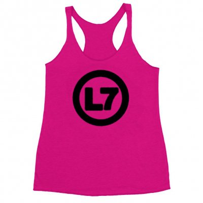 l7 - Spray Logo Womens Tank (Pink)