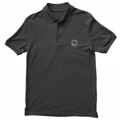 Tooth Embroidered Polo (Black)