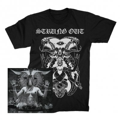 strung-out - Black Out The Sky CD + Baphomet Tee (Black) Bundle