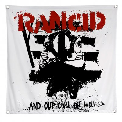 "rancid - ...And Out Come The Wolves Flag (48"" x 48"")"