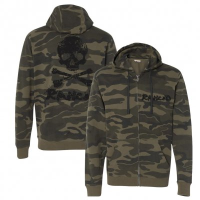 rancid - D Skull Zip-Up Hoodie (Camo)