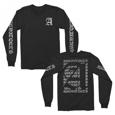 Metallic Old English Long Sleeve (Black)