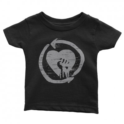 rise-against - Grey HeartFist Distressed Youth Tee (Black)