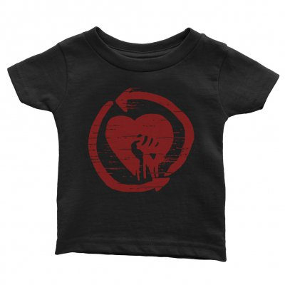 rise-against - Red HeartFist Distressed Youth Tee (Black)