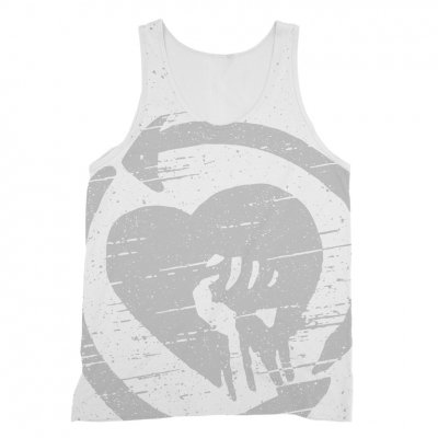 rise-against - Oversized Static Logo Tank (White)