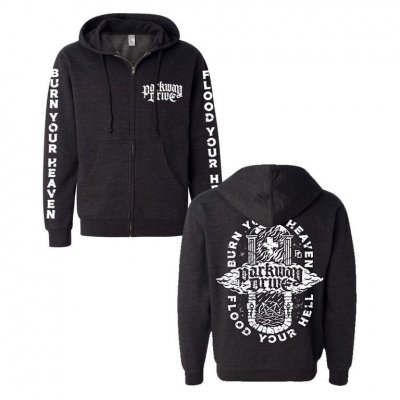 parkway-drive - Burn Your Heaven Zip-Up Hoodie (Black)