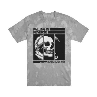 falling-in-reverse - Helmet Skull Tee (Grey Tie Dye)