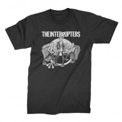 the-interrupters - Cartoon Band T-Shirt (Black / White)