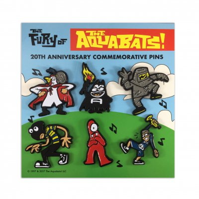 the-aquabats - The Fury Of The Aquabats Enamel 6-Pin Set