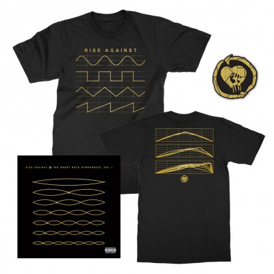 rise-against - The Ghost Note Symphonies, Vol. 1 CD + Ghost Note Symphonies Tee + Ghost Note Patch Bundle