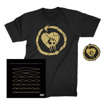 rise-against - The Ghost Note Symphonies, Vol. 1 CD + Ghost Note HeartFist Tee + Ghost Note Patch Bundle