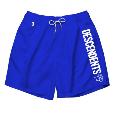 descendents - Full Logo Swim Trunks (Royal Blue)