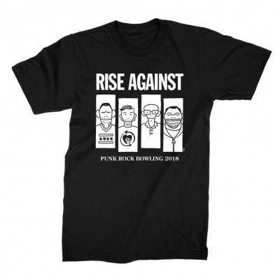 rise-against - Descendents/Flag/PRB Mashup Tee (Black)