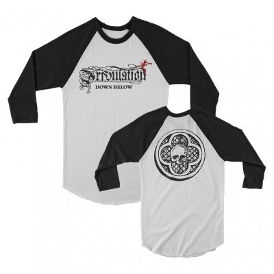 Down Below Raglan (White/Black)