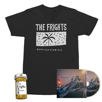 The Frights - Hypochondriac CD + Palm Trees Tee (Black) + Pill Enamel Pin Bundle