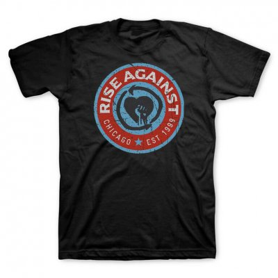 rise-against - Blue Circle Tee (Black)
