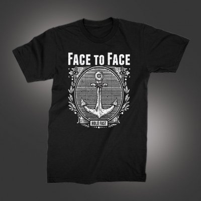 face-to-face - Anchor T-Shirt (Black)