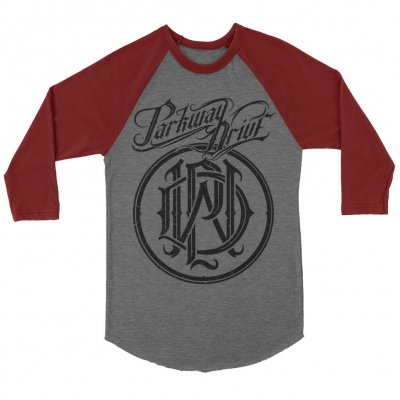 parkway-drive - Reverence Monogram Logo Raglan (Heather Gray/Maroo