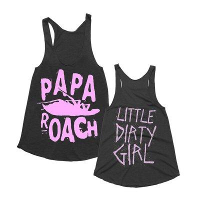 papa-roach - LDG Classic Logo Womens Tank (Black)