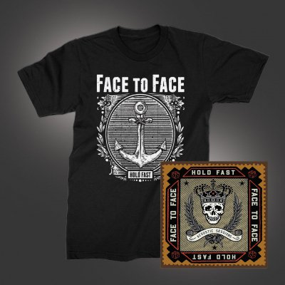 face-to-face - Hold Fast Acoustic Sessions CD + Anchor T-Shirt (Black) Bundle