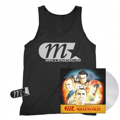 millencolin - Pennybridge Pioneers LP (Clear) + M-Star Logo Tank (Black) + M Star Enamel Pin Bundle