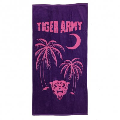 tiger-army - Tiger Palms Beach Towel
