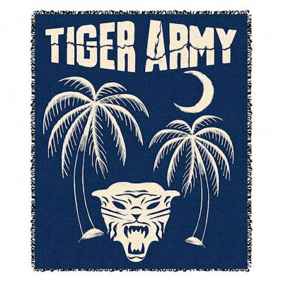 tiger-army - Tiger Palms Throw Blanket
