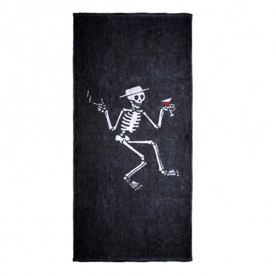 social-distortion - Skelly Beach Towel (Black)