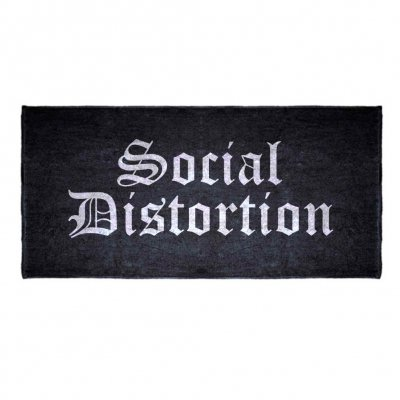 social-distortion - Old English Logo Beach Towel (Black)