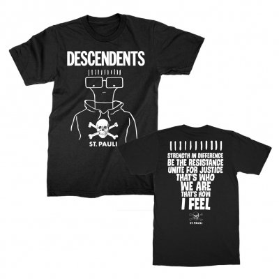 fc-st-pauli - FC St Pauli / Descendents Collab Tee (Black)