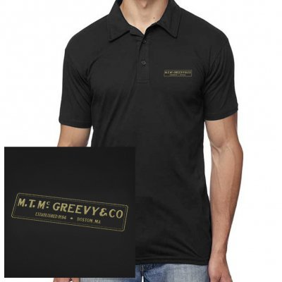 mcgreevys-pub - Black Polo (Black)