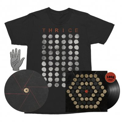 Thrice - Palms LP (Black 180g) + Tee (Black) + Enamel Pin + Slipmat Bundle