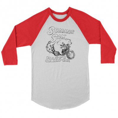 Summer Salt - Biker Bear Raglan (White/Red)