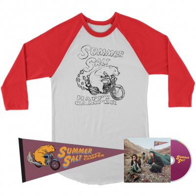 Summer Salt - Happy Camper CD + Raglan (White/Red) + Pennant Bundle