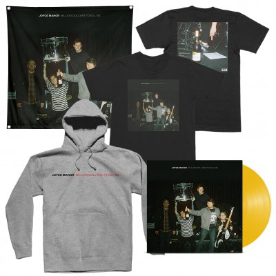 joyce-manor - Million Dollars To Kill Me LP (Dark Yellow) + Tee (Black) + Hoodie (Heather Grey) + Flag Bundle
