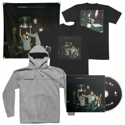 joyce-manor - Million Dollars To Kill Me CD + Tee (Black) + Hoodie (Heather Grey) + Flag Bundle
