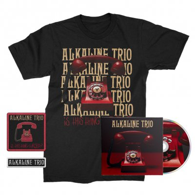 alkaline-trio - Is This Thing Cursed? CD + Repeater Tee (Black) + Patches (2) Bundle