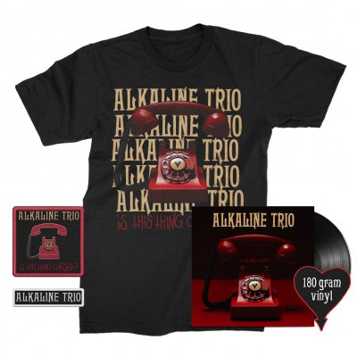 alkaline-trio - Is This Thing Cursed? LP (Black 180g) + Repeater Tee (Black) + Patches (2) Bundle