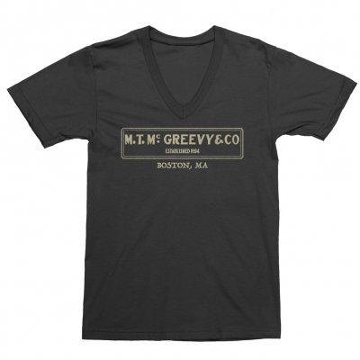mcgreevys-pub - Logo Ladies' V-Neck Tee (Black)
