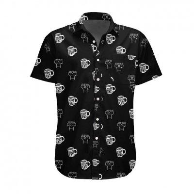 descendents - Coffee Mug Button-Up Short Sleeve Shirt (Black)