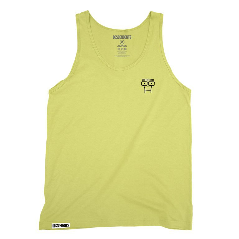 IMAGE   Classic Milo Embroidered Tank (Yellow)