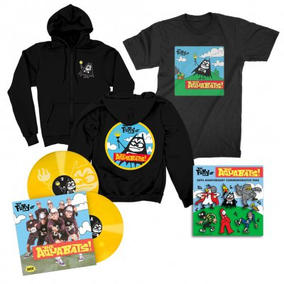 the-aquabats - The Fury Of The Aquabats Remastered 2xLP (Yellow) + Fury Bat '97 Tee  + Fury Bat Zip-Up Hoodie + Enamel Pin Set Bundle