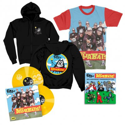 the-aquabats - The Fury Of The Aquabats Remastered 2xLP (Yellow) + Fury Band Photo Tee + Fury Bat Zip-Up Hoodie + Enamel Pin Set Bundle