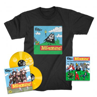 the-aquabats - The Fury Of The Aquabats Remastered 2xLP (Yellow) + Fury Bat '97 Tee + Enamel Pin Set Bundle
