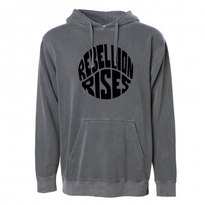 ziggy-marley - Rebellion Rises Black Pigment Dyed Hoodie