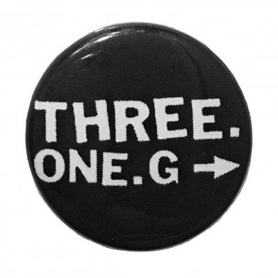 three-one-g - Three One G Logo Button (Black)