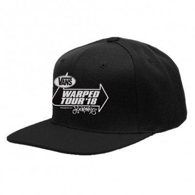 vans-warped-tour - Classic Logo 2018 Tour Snapback Hat (Black)