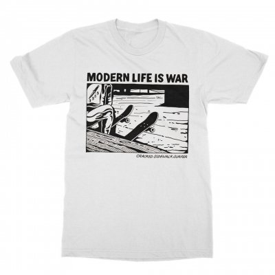 modern-life-is-war - Cracked Tee (White)